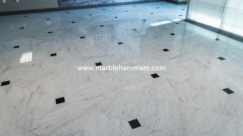 Carrara White Marble Flooring Tile